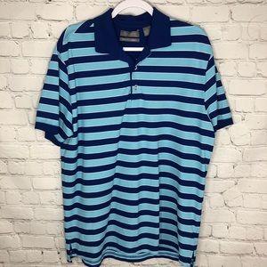 Daniel Cremieux Striped Signature Polo Shirt L